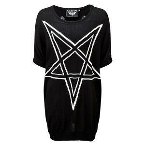 KILLSTAR Black Sweater Top Distressed Short Sleeve